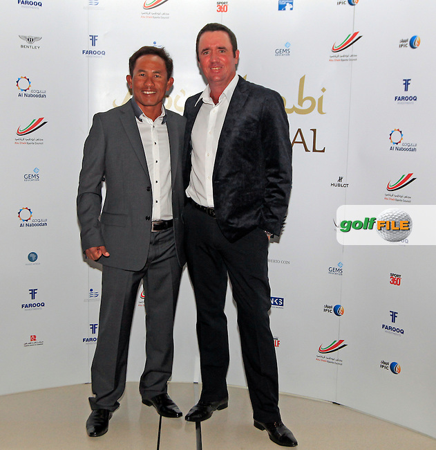 Thongchai Jaidee and Scott Hend during the 2015 Abu Dhabi Invitational Gala Evening held at The Viceroy Hotel, Yas Island, Abu Dhabi.: Picture Eoin Clarke, www.golffile.ie: 1/25/2015
