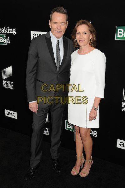 Bryan Cranston, Robin Dearden<br /> &quot;Breaking Bad&quot; Final Episodes Los Angeles Premiere Screening held at Sony Pictures Studios, Culver City, California, USA, 24th July 2013.<br /> full length grey gray suit tie white dress <br /> CAP/ADM/BP<br /> &copy;Byron Purvis/AdMedia/Capital Pictures