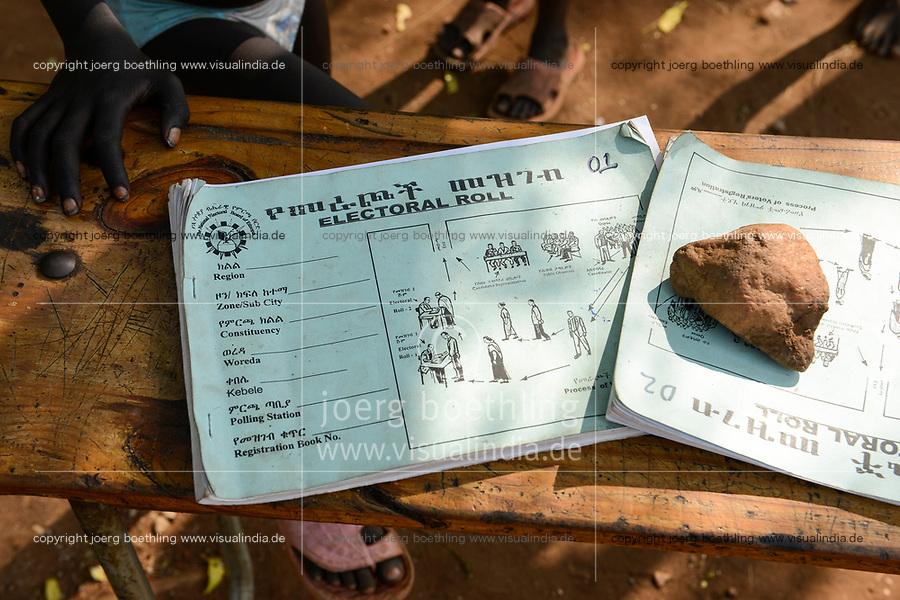 ETHIOPIA Gambela, election roll / AETHIOPIEN Gambela, Wahlliste