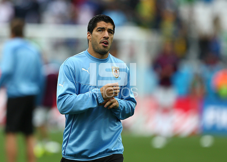 Luis Suarez of Uruguay during the warm up