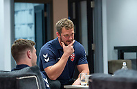 Picture by Allan McKenzie/SWpix.com - 24/04/2018 - Rugby League - RFL EPS Headshots - Village Hotels, Bury, England - England EPS and Knights players relax at camp, Sean O'Loughlin.