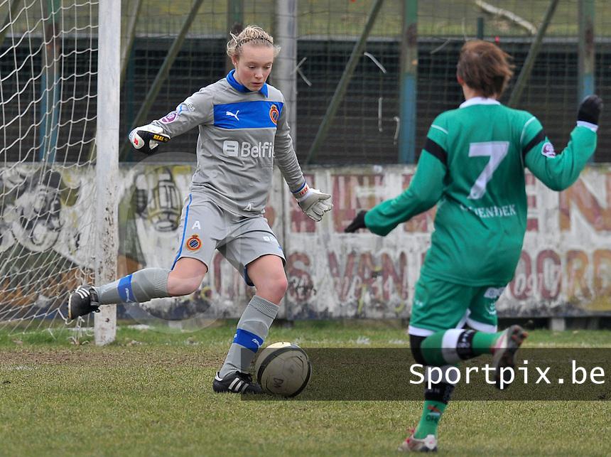 Club Brugge Dames - OHL Oud Heverlee Leuven : Jana Vanhauwaert.foto DAVID CATRY / Vrouwenteam.be