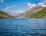 MONTENEGRO, Bay of Kotor, Mountains rising above the Bay of Kotor, Ben M Thomas