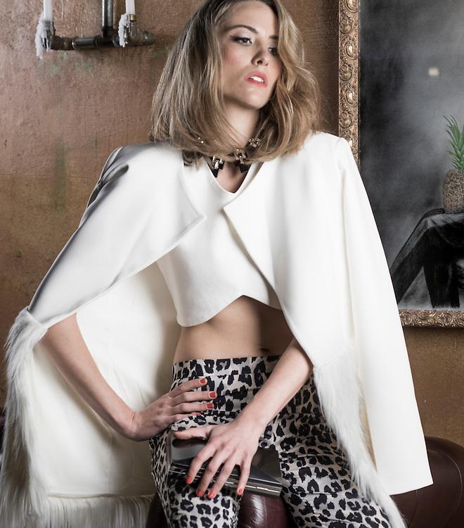 Fashion with Mirella. Animal Prints. Jess. Pic:Nick Clayton