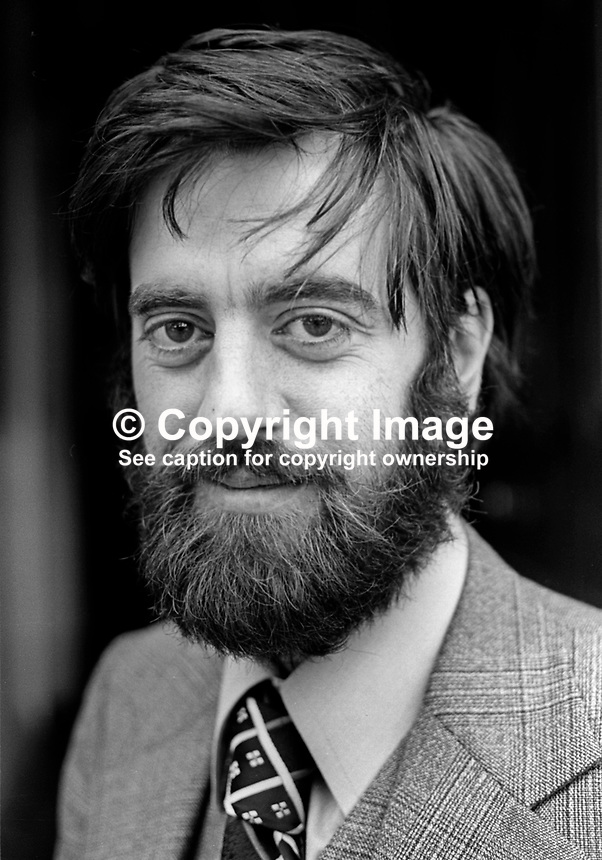 Ciaran McKeown, press officer, Peace People, N Ireland, October 1976. 197610150441b. Previously he worked as a journalist for the Irish Press and Irish Times. <br />