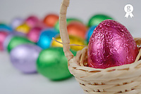 Easter eggs (differential focus), close-up (Licence this image exclusively with Getty: http://www.gettyimages.com/detail/200471505-001 )