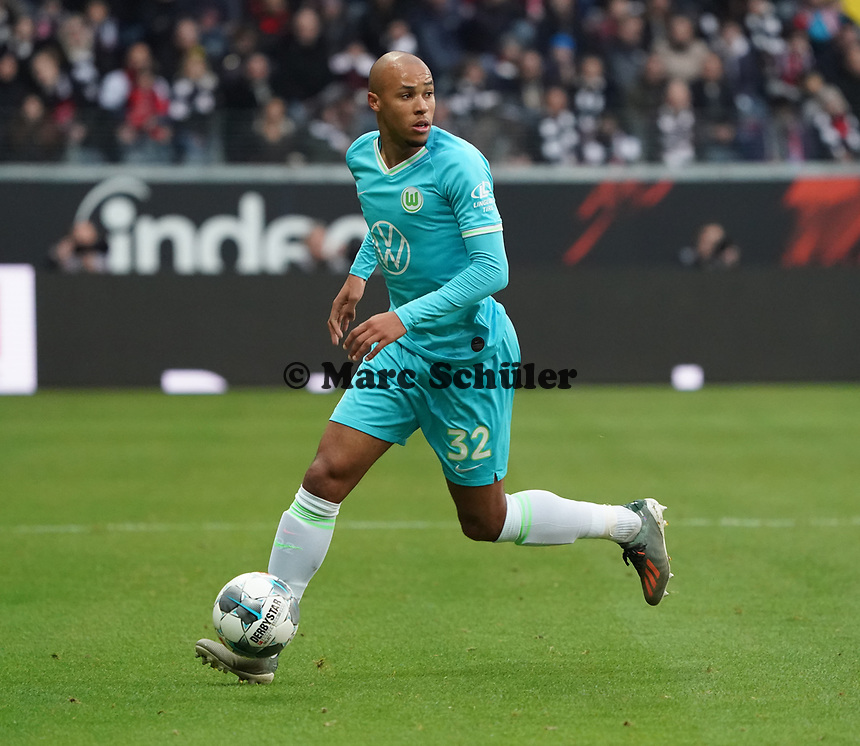 Marcel Tisserand (VfL Wolfsburg) - 23.11.2019: Eintracht Frankfurt vs. VfL Wolfsburg, Commerzbank Arena, 12. Spieltag<br /> DISCLAIMER: DFL regulations prohibit any use of photographs as image sequences and/or quasi-video.