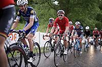 Philippe Gilbert (BEL/BMC) up 'Le Petit Poggio' in the rain<br /> <br /> Belgian National Road Cycling Championships 2016<br /> Les Lacs de l'Eau d'Heure