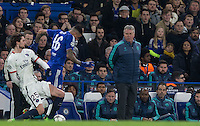Chelsea Manager Guus Hiddink watches the action during the UEFA Champions League Round of 16 2nd leg match between Chelsea and PSG at Stamford Bridge, London, England on 9 March 2016. Photo by Andy Rowland.