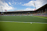 The Hague, Netherlands, June 08: View of the pitch of the Kyocera Stadium during the field hockey group match (Men - Group B) between the Black Sticks of New Zealand and Germany on June 8, 2014 during the World Cup 2014 at Kyocera Stadium in The Hague, Netherlands.  Final score 3-5 (1-3) (Photo by Dirk Markgraf / www.265-images.com) *** Local caption ***