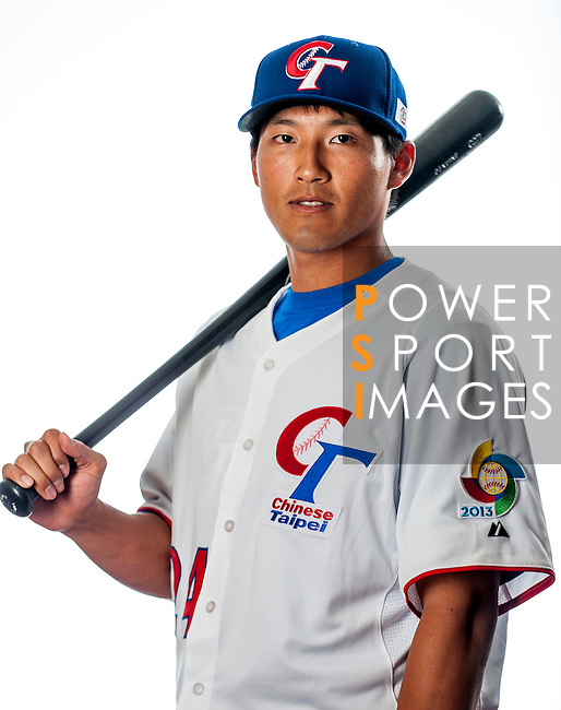 Lin, Che-Hsuan of Team Chinese Taipei poses during WBC Photo Day on February 25, 2013 in Taichung, Taiwan. Photo by Victor Fraile / The Power of Sport Images