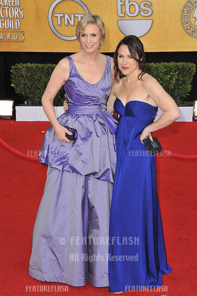 Jane Lynch & partner at the 17th Annual Screen Actors Guild Awards at the Shrine Auditorium..January 30, 2011  Los Angeles, CA.Picture: Paul Smith / Featureflash