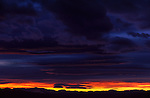 Sunset over White Mountains, viewed from Walt's Point in the eastern Sierra Nevada Mountains.