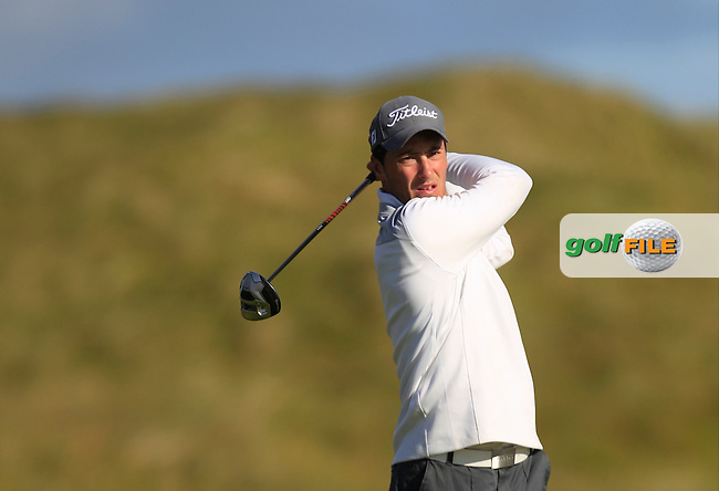 Jeff Hopkins (The Royal Dublin) on the 2nd tee during Matchplay Round 3 of the South of Ireland Amateur Open Championship at LaHinch Golf Club on Saturday 25th July 2015.<br /> Picture:  Golffile | TJ Caffrey