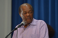 August 7, 2013  (Washington, DC) Ward 8 D.C. Councilman and former mayor Marion Barry Jr. speaks during a news conference announcing plans for the 50th anniversary March on Washington. D.C.  (Photo by Don Baxter/Media Images International)