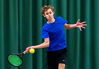 Wateringen, The Netherlands, March 16, 2018,  De Rhijenhof , NOJK 14/18 years, Nat. Junior Tennis Champ. Thom Griffioen (NED)<br /> Photo: www.tennisimages.com/Henk Koster