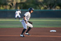 AZL White Sox shortstop Camilo Quintero (1) leads off second base during an Arizona League game against the AZL Dodgers at Camelback Ranch on July 7, 2018 in Glendale, Arizona. The AZL Dodgers defeated the AZL White Sox by a score of 10-5. (Zachary Lucy/Four Seam Images)