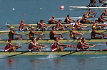 Rowing, Eight oared men's racing shells in competition, FISA World Rowing Championships, Idroscalo Park, Milan, Lombardy, Italy, Europe, 2003,
