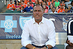22 August 2015: Cosmos head coach Giovanni Savarese (VEN). The Carolina RailHawks hosted the New York Cosmos at WakeMed Stadium in Cary, North Carolina in a North American Soccer League 2015 Fall Season match. Cosmos won the game 3-1.