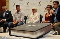 """ATENÇÃO EDITOR FOTO EMBARGADA PARA VEÍCULOS INTERNACIONAIS - SAO PAULO, SP, 22 DE NOVEMBRO DE 2012 – LANÇAMENTO DO LIVRO OFICIAL DA F1: durante lançamento do livro """"Formula 1™ Opus"""" no Brasil, livro oficial da Fórmula 1™, e anúncio da joint venture firmada entre as editoras Toriba Editora e a Opus (UK) na noite desta quinta feira (22) no Hotel Transamerica em São Paulo . FOTO: LEVI BIANCO - BRAZIL PHOTO PRESS"""