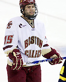 Joe Whitney (BC - 15) - The Boston College Eagles defeated the Merrimack College Warriors 7-0 on Tuesday, February 23, 2010 at Conte Forum in Chestnut Hill, Massachusetts.