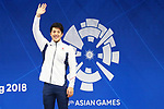 Daiya Seto (JPN), <br /> AUGUST 19, 2018 - Swimming : <br /> Men's 200m Butterfly Medal Ceremony <br /> at Gelora Bung Karno Aquatic Center <br /> during the 2018 Jakarta Palembang Asian Games <br /> in Jakarta, Indonesia. <br /> (Photo by Naoki Nishimura/AFLO SPORT)