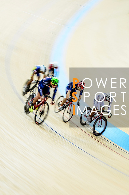 Cyclists compete during the Indiviual Pursuit Youth Final Track Cycling Race 2016-17 Series 3 at the Hong Kong Velodrome on February 4, 2017 in Hong Kong, China. Photo by Marcio Rodrigo Machado / Power Sport Images