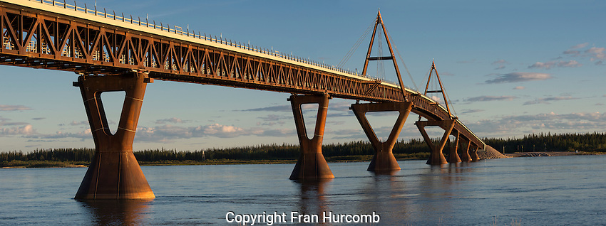 The new bridge over the Mackenzie River at Fort Providence.