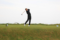 Michael Farr (ENG) on the 1st tee during Round 1of the Flogas Irish Amateur Open Championship 2019 at the Co.Sligo Golf Club, Rosses Point, Sligo, Ireland. 16/05/19<br /> <br /> Picture: Thos Caffrey / Golffile<br /> <br /> All photos usage must carry mandatory copyright credit (© Golffile | Thos Caffrey)