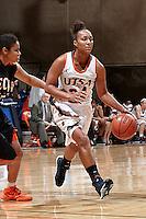 SAN ANTONIO, TX - NOVEMBER 1, 2013: The East Central University Tigers versus the University of Texas at San Antonio Roadrunners Women's Basketball Team at the UTSA Convocation Center. (Photo by Jeff Huehn)