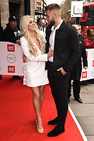 Paige Turley and Finley Tapp<br /> arriving for theTRIC Awards 2020 at the Grosvenor House Hotel, London.<br /> <br /> ©Ash Knotek  D3561 10/03/2020