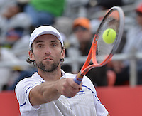 BOGOTÁ -COLOMBIA. 20-07-2013. Ivo Karlovic (CRO)  durante el juego contra Kevin Anderson (RSA) de semifinal del ATP Claro Open Colombia 2013 en el centro de Alto Rendimiento en la ciudad de Bogotá./ Ivo Karlovic (CRO) during match against Kevin Anderson (RSA) on semifinal of ATP Claro at Centro Alto Rendimiento in Bogota city. Photo: VizzorImage / Str