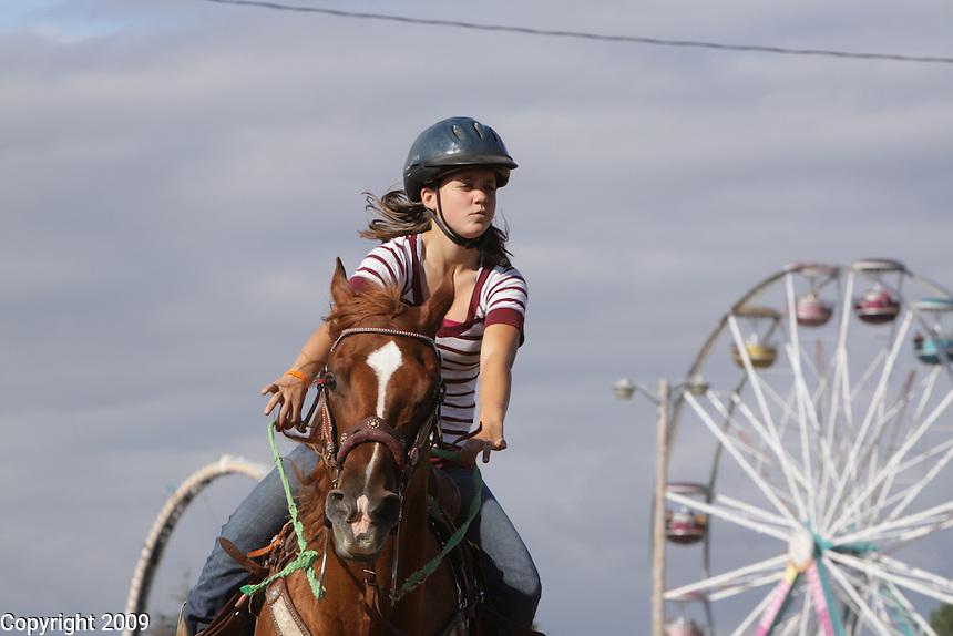 Miranda Ackerson, 14, Stewart Mt. Gang, Van Sandnt, 4H, . NW Washington Fair. August 21, 2009 PHOTOS BY MERYL SCHENKER