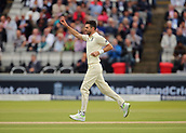 7th September 2017, Lords Cricket Ground, London, England; International Test Match Series, Third Test, Day 1; England versus West Indies; England Bowler James Anderson claims the wicket of West Indies Kyle Hope, and Anderson's 499th test wicket