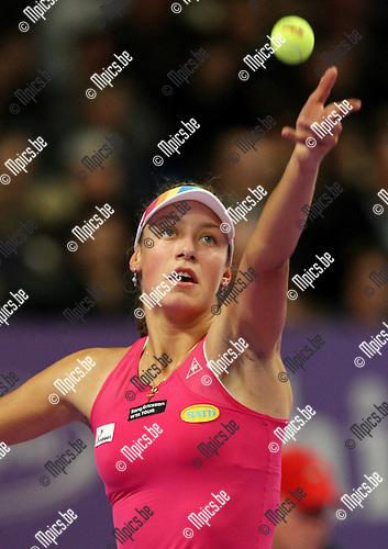 2008-02-11 / Tennis / Diamond Games 2008 / Yanina Wickmayer wint haar eerste ronde wedstrijd ..Foto: Maarten Straetemans (SMB)