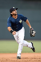 Third baseman J.J. Franco (2) of the Columbia Fireflies plays defense in a game against the Augusta GreenJackets on Sunday, July 30, 2017, at Spirit Communications Park in Columbia, South Carolina. Augusta won, 6-0. (Tom Priddy/Four Seam Images)