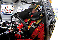 Nov. 14, 2009; Avondale, AZ, USA; NASCAR Sprint Cup Series driver Martin Truex Jr during practice for the Checker O'Reilly Auto Parts 500 at Phoenix International Raceway. Mandatory Credit: Mark J. Rebilas-