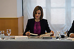 Queen Letizia of Spain attends the meeting of the board of the dorm at Madrid, Spain. June 15, 2015.<br />  (ALTERPHOTOS/BorjaB.Hojas)