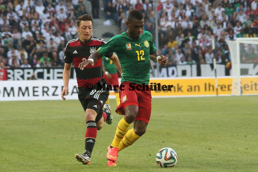 Henri Bedimo (CAM) klaert gegen Mesut Özil (D) - Deutschland vs. Kamerun, Mönchengladbach