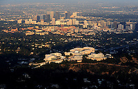 July. 10, 2009; Los Angeles, CA, USA; Aerial views of the Getty Center Museum near downtown Los Angeles. Mandatory Credit: Mark J. Rebilas
