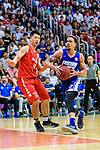 Marcus Ryan Elliott #2 of Eastern Long Lions (R) in action against Lin Ho Chun #31 of SCAA Men's Basketball Team (L) during the Final of Hong Kong Basketball League 2018 match between SCAA v Eastern Long Lions on August 10, 2018 in Hong Kong, Hong Kong. Photo by Marcio Rodrigo Machado/Power Sport Images