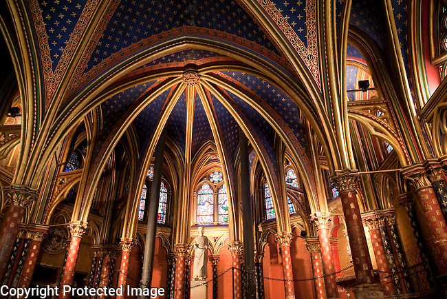 Ste Chapelle, Ile de la Cite, Paris, France, Europe