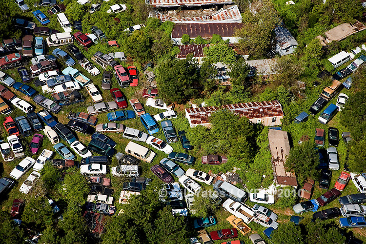 North Carolina traffic jamb junk cars junk mobile homes helicopter aerial