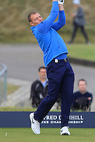 Brett Desmond (AM) on the 10th tee during Round 3 of the 2015 Alfred Dunhill Links Championship at Kingsbarns in Scotland on 3/10/15.<br /> Picture: Thos Caffrey | Golffile