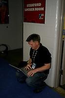 SAN ANTONIO, TX - APRIL 2:  Bud Anderson at the Final Four media day on April 2, 2010 in San Antonio, Texas.
