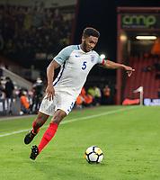 Joe Gomez (Liverpool) of England U21 during the UEFA EURO U-21 First qualifying round International match between England 21 and Latvia U21 at the Goldsands Stadium, Bournemouth, England on 5 September 2017. Photo by Andy Rowland.