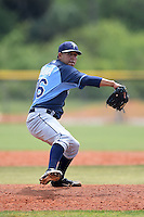 Tampa Bay Rays minor league pitcher Derek Loera (76) during an extended spring training game against the Boston Red Sox on April 16, 2014 at Charlotte Sports Park in Port Charlotte, Florida.  (Mike Janes/Four Seam Images)
