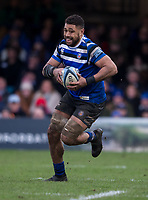 Bath Rugby's Taulupe Faletau in action during todays match<br /> <br /> Photographer Bob Bradford/CameraSport<br /> <br /> Gallagher Premiership - Bath Rugby v Bristol Bears - Sunday 1st March 2020 - The Recreation Ground - Bath<br /> <br /> World Copyright © 2020 CameraSport. All rights reserved. 43 Linden Ave. Countesthorpe. Leicester. England. LE8 5PG - Tel: +44 (0) 116 277 4147 - admin@camerasport.com - www.camerasport.com