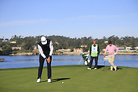 Rafa Cabrera-Bello (ESP) putts on the 7th green during Sunday's Final Round of the 2018 AT&amp;T Pebble Beach Pro-Am, held on Pebble Beach Golf Course, Monterey,  California, USA. 11th February 2018.<br /> Picture: Eoin Clarke | Golffile<br /> <br /> <br /> All photos usage must carry mandatory copyright credit (&copy; Golffile | Eoin Clarke)
