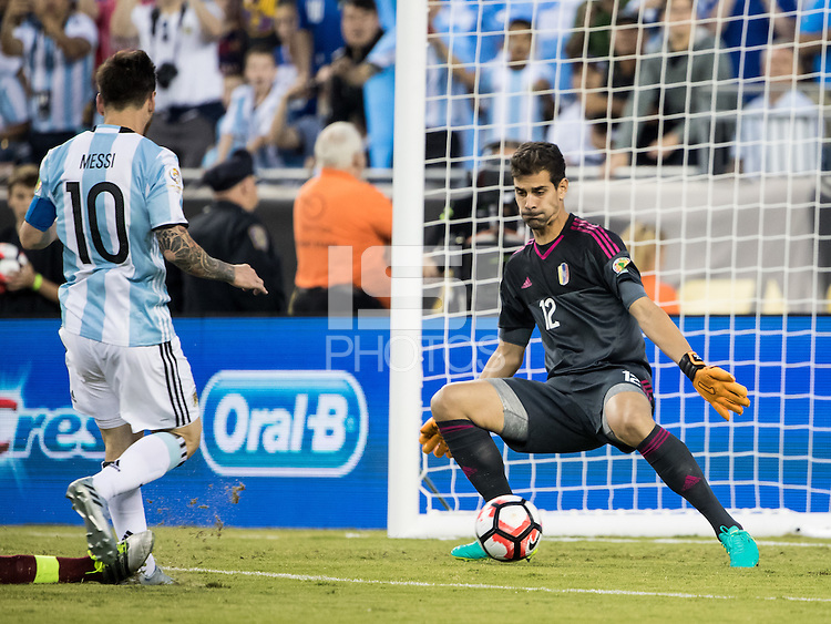 FOXBOROUGH, MASSACHUSETTS - June 18, 2016: Copa America Centenario USA 2016.  Argentine vs Venezuela in a match at Gillette Stadium.  Final score Argentina 4, Venezuela 1.